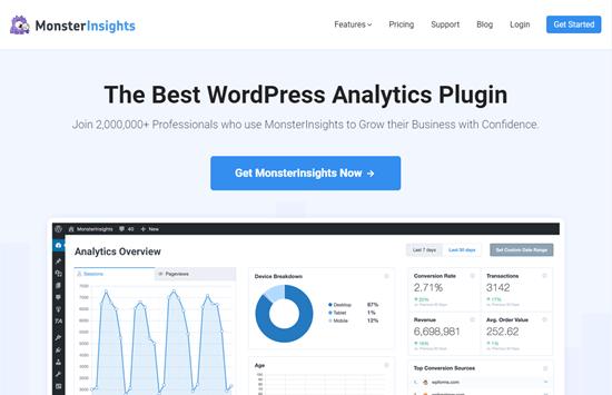 plugin de wordpress mejor análisis de monsterinsights