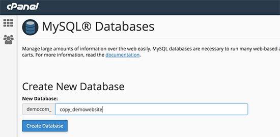 Nueva base de datos