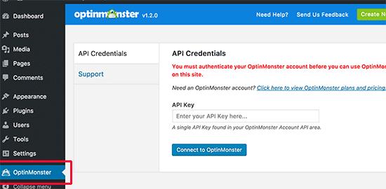 Clave de API de OptinMonster
