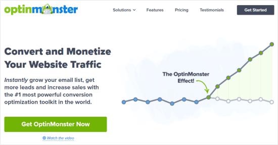 El sitio web de OptinMonster