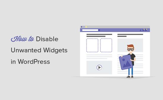 Eliminar widgets no deseados en WordPress