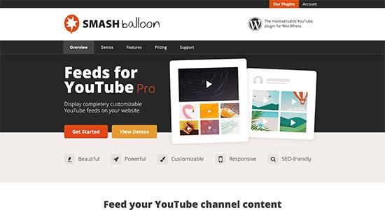 Smash Balloon Feeds de YouTube