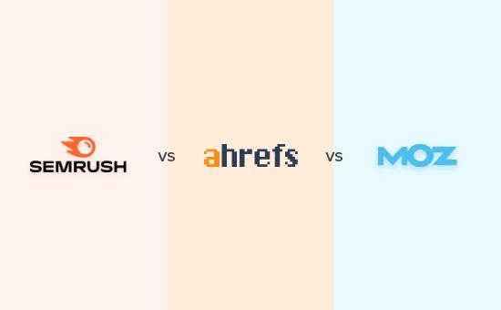 Comparando Semrush vs Ahrefs vs Moz
