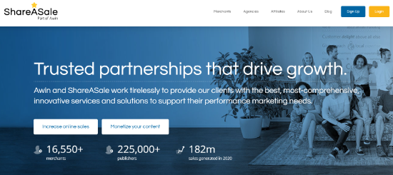 Software de gestión de afiliados ShareASale