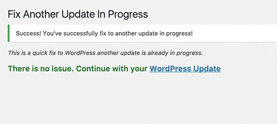 Bloqueo de actualización de WordPress arreglado