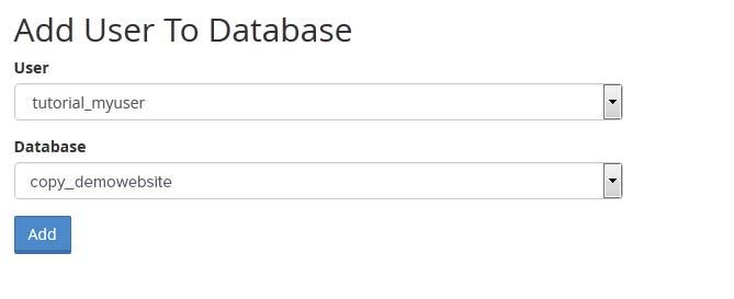 Agregar usuario a la base de datos