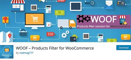Filtro de productos WOOF para WooCommerce