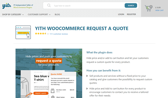 YITH WooCommerce Solicite una cotización