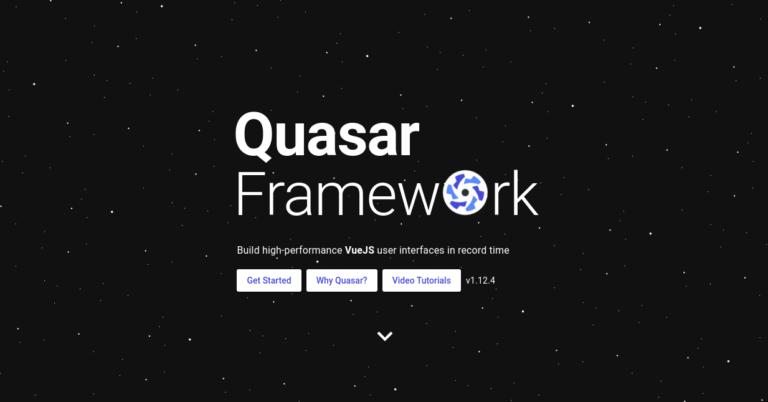 Biblioteca de componentes de IU de Quasar Vue