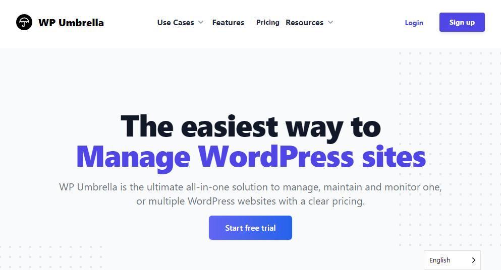 plugin de gestión de wordpress paraguas wp