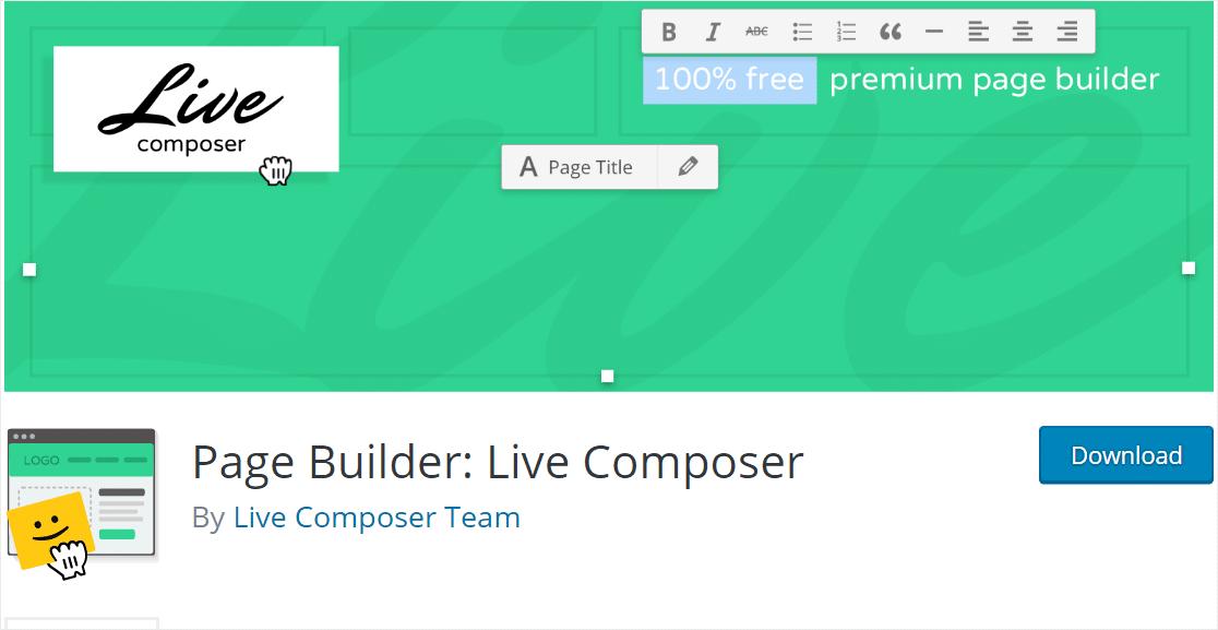 compositor en vivo los mejores creadores de páginas de wordpress