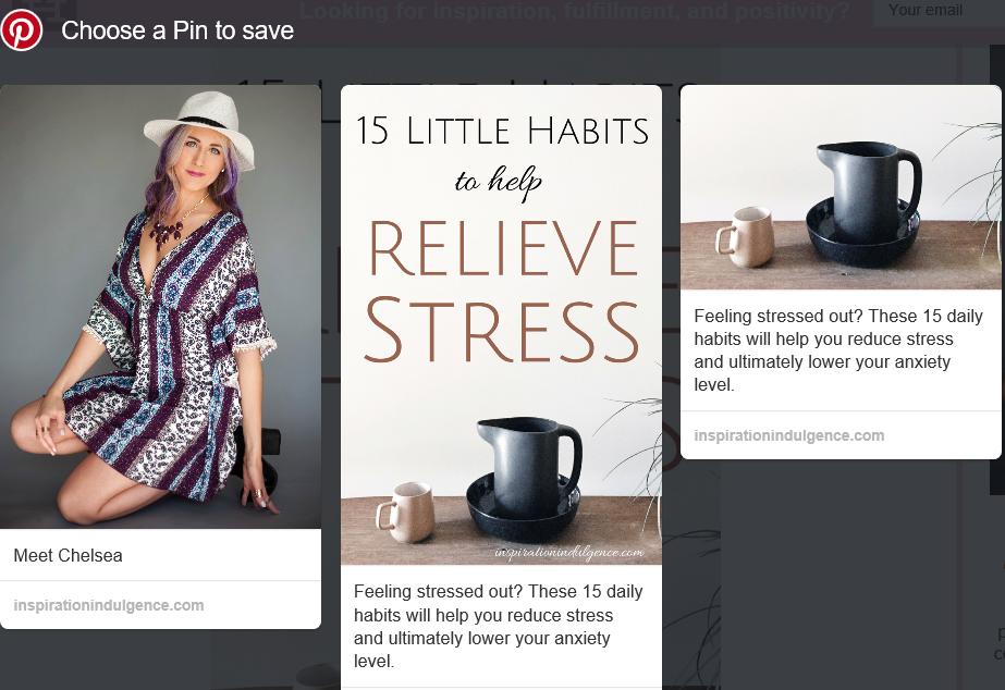 Tres opciones de pin extraídas de una publicación de blog