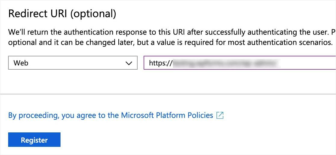 registro completo de la aplicación outlook smtp