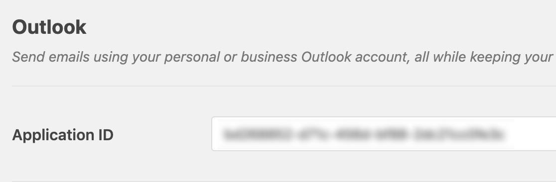 Pegue el ID de la aplicación en la configuración SMTP de WP Mail