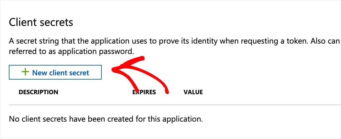 crear un nuevo secreto de cliente para el mailer de wordpress outlook