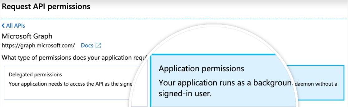 wordpress outlook mailer agregar permisos de aplicaciones