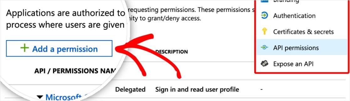 Outlook smtp agregar un permiso