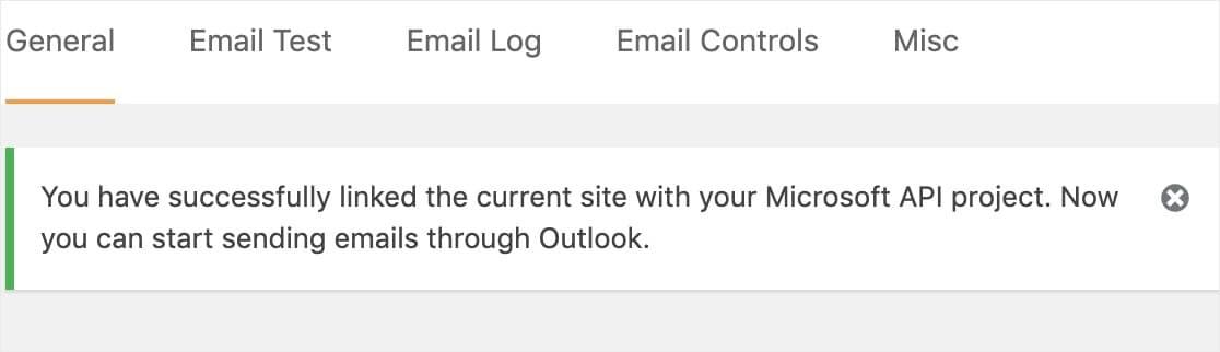 microsoft api confirmación Outlook smtp