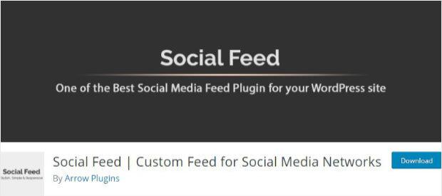 Complemento de redes sociales para WordPress