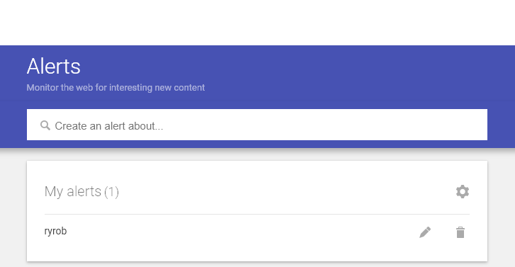 Alertas de Google (captura de pantalla)