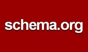 """El logotipo de Schema.org, que consiste en un texto blanco sans-serif que dice """"schema.org"""" sobre un fondo rojo oscuro, con una ligera sombra alrededor de las letras."""