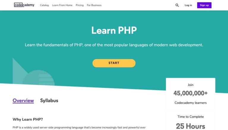 Aprenda PHP Codecademy