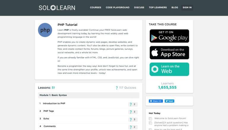 Tutorial de PHP SoloLearn