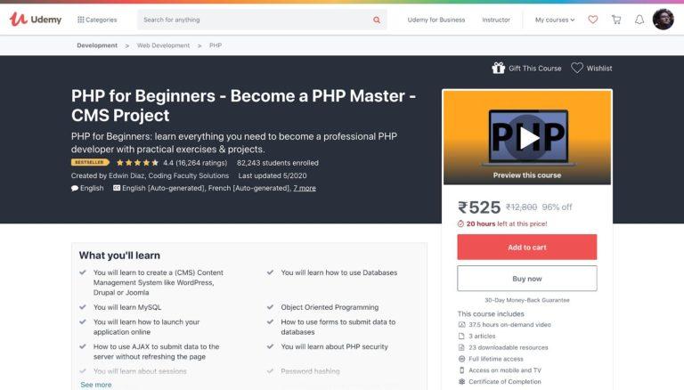 Udemy PHP para principiantes