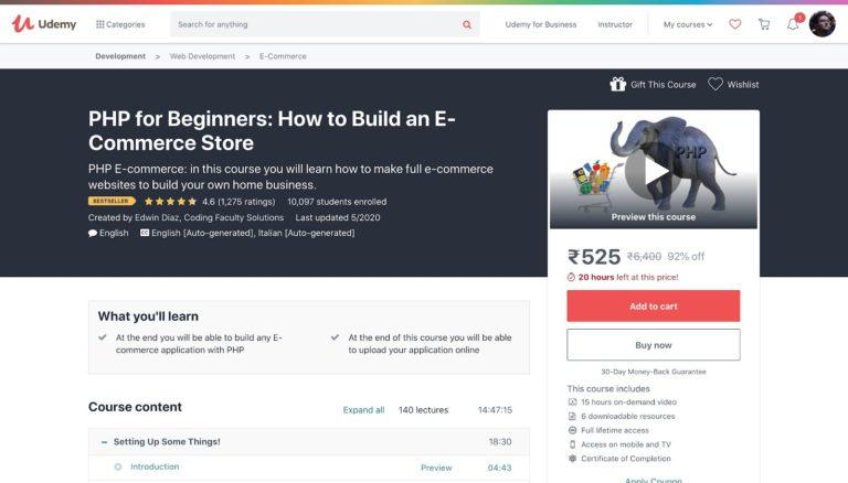 Cree una tienda de comercio electrónico con PHP