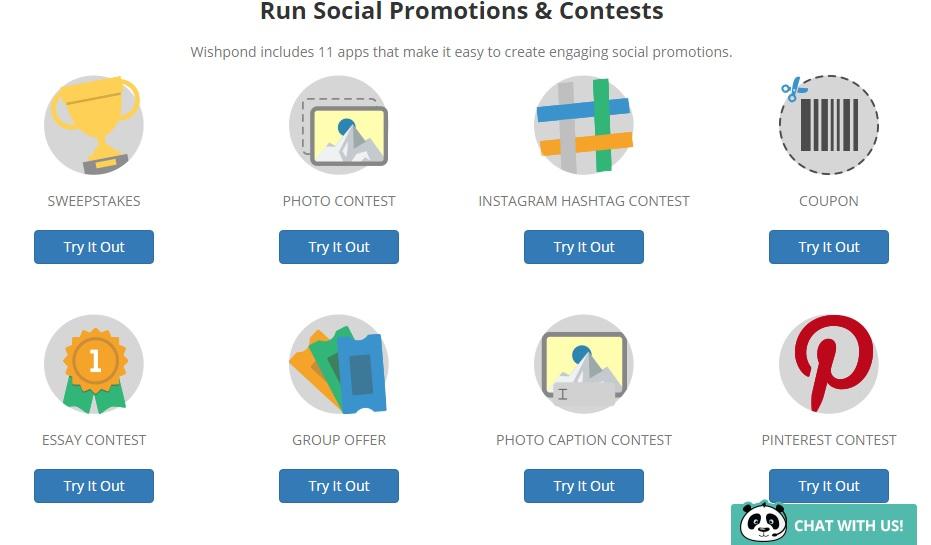 promociones y concursos de wishpond
