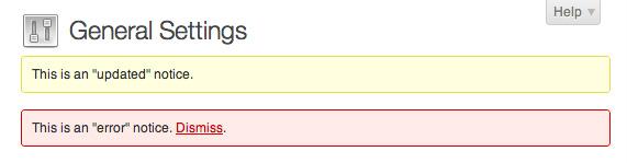 Avisos de administración de WordPress