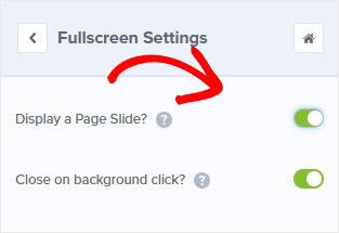 Alfombrilla de pantalla completa para diapositivas de página