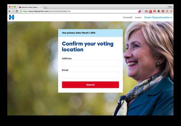 confirme su lugar de votación