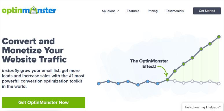 Optinmonster, mejor cta, mejor complemento de llamada a la acción