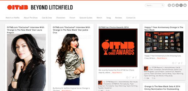Sitio web de OITNB