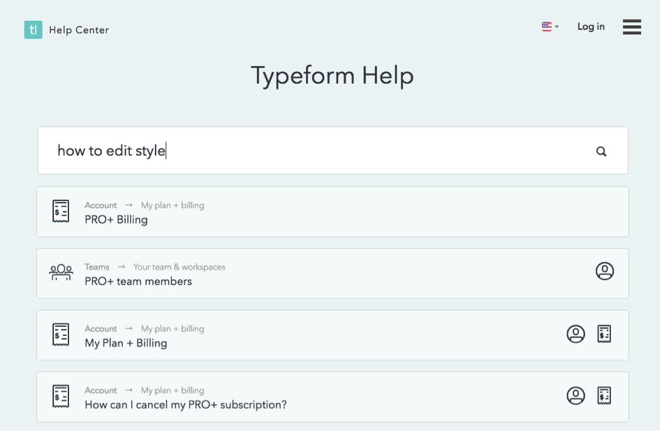 ayuda de typeform