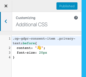 CSS personalizado en configuraciones adicionales