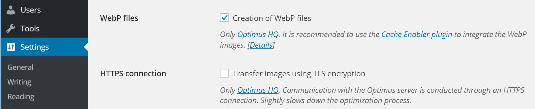 creación de archivos webp