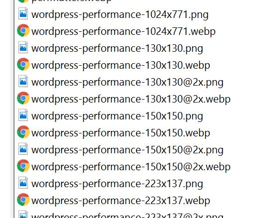 archivos webp y png