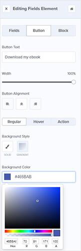 Herramientas de edición del botón OptinMonster