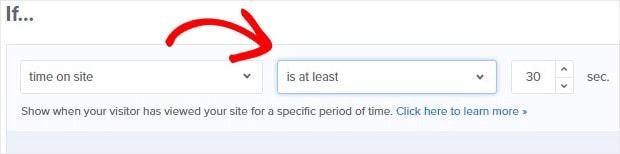 Tiempo en el sitio Regla de 30 segundos