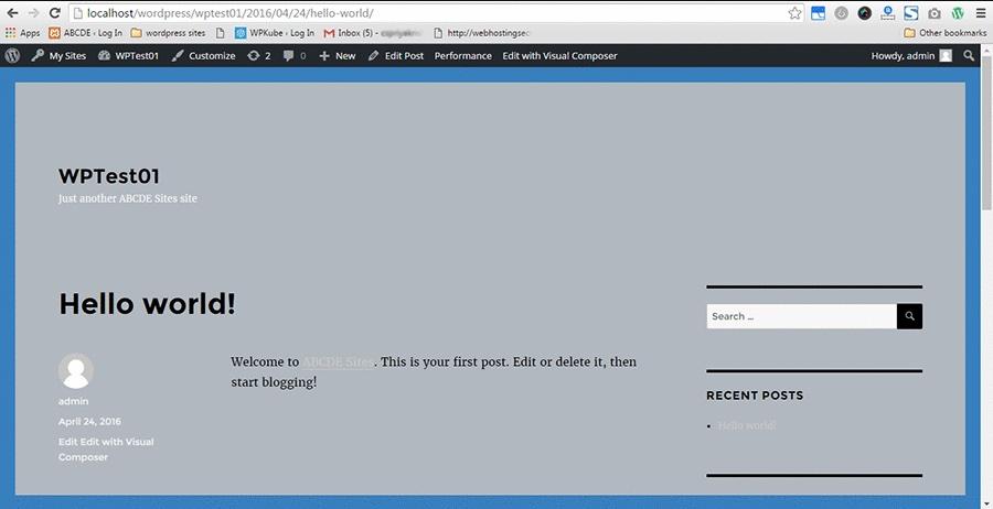 Control de la barra de administración de WordPress para Chrome