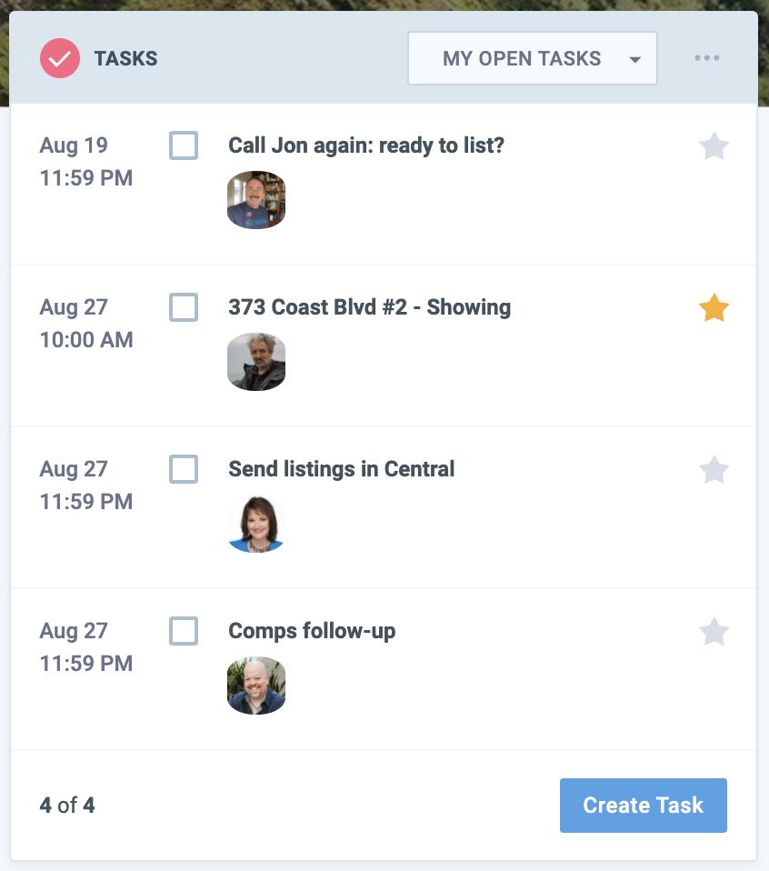Captura de pantalla del widget de tareas de la página de hoy de Nimble