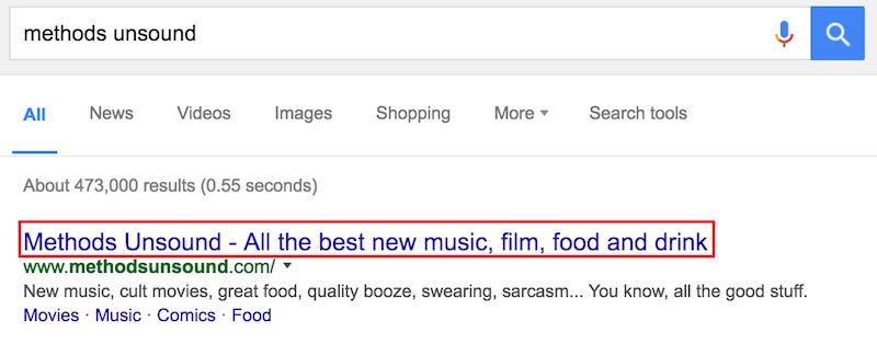 métodos de búsqueda de Google poco sólidos