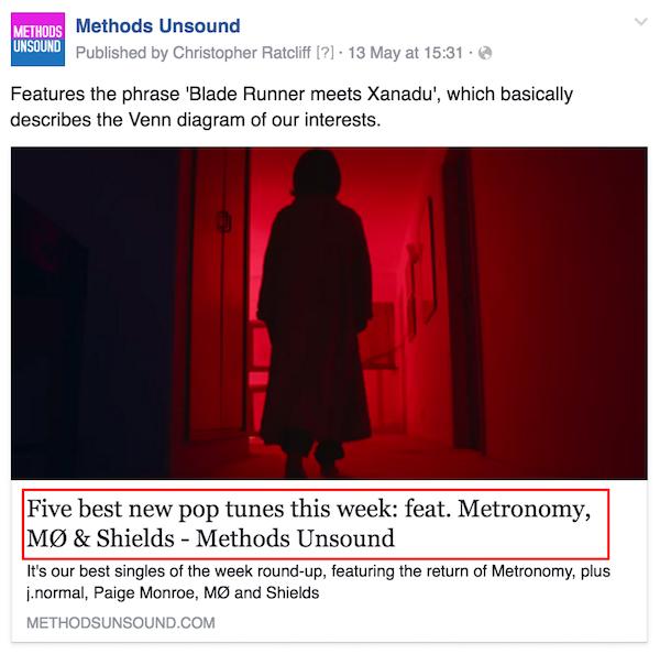Methods Unsound - etiqueta de título