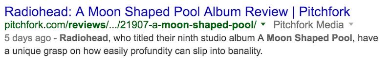 revisión de la piscina en forma de luna de radiohead