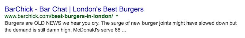 mejores hamburguesas en londres mala búsqueda de Google