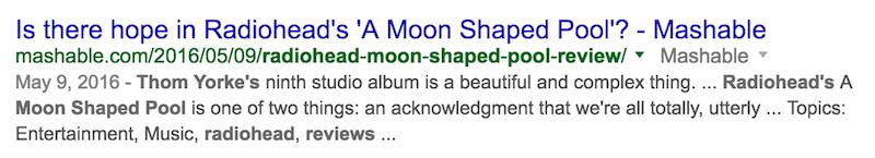 Opinión de la piscina en forma de luna de radiohead mala Búsqueda de Google