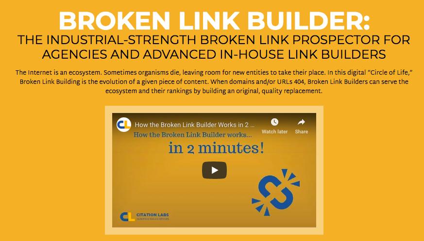 Captura de pantalla de Broken Link Builder