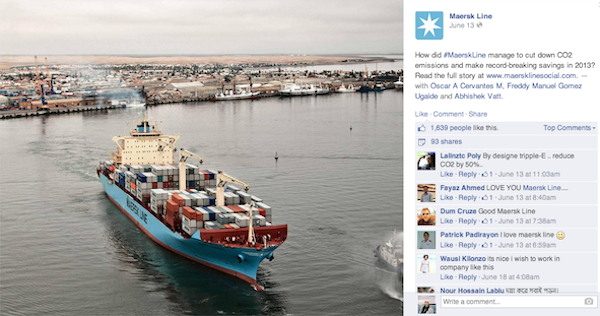 linea Maersk Facebook Fotografía